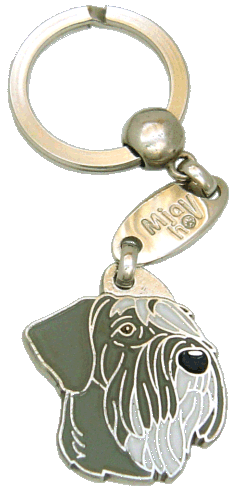 GIANT SCHNAUZER PEPPER SALT <br> (keyring, without engraving)