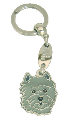 CAIRN TERRIER GREY - pet ID tag, dog ID tags, pet tags, personalized pet tags MjavHov - engraved pet tags online