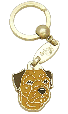 BORDER TERRIER BROWN - pet ID tag, dog ID tags, pet tags, personalized pet tags MjavHov - engraved pet tags online