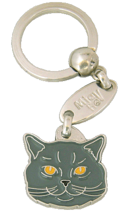 British Shorthair - pet ID tag, dog ID tags, pet tags, personalized pet tags MjavHov - engraved pet tags online