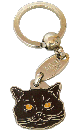 British Shorthair chocolate - pet ID tag, dog ID tags, pet tags, personalized pet tags MjavHov - engraved pet tags online