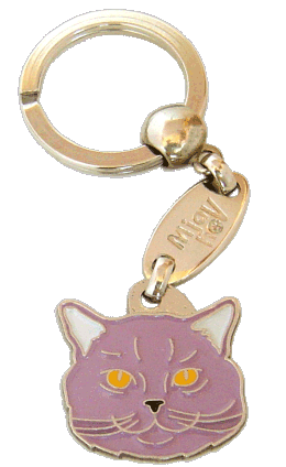 British Shorthair lilac - pet ID tag, dog ID tags, pet tags, personalized pet tags MjavHov - engraved pet tags online