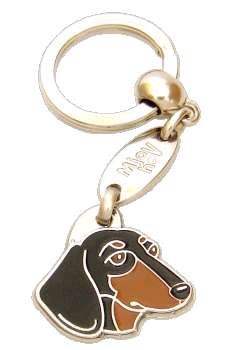 DACHSHUND BLACK AND TAN - pet ID tag, dog ID tags, pet tags, personalized pet tags MjavHov - engraved pet tags online