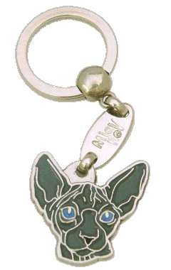 SPHYNX CAT BLUE, BLUE EYES - pet ID tag, dog ID tags, pet tags, personalized pet tags MjavHov - engraved pet tags online
