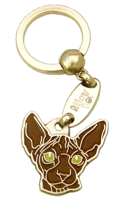 SPHYNX CAT BROWN - pet ID tag, dog ID tags, pet tags, personalized pet tags MjavHov - engraved pet tags online