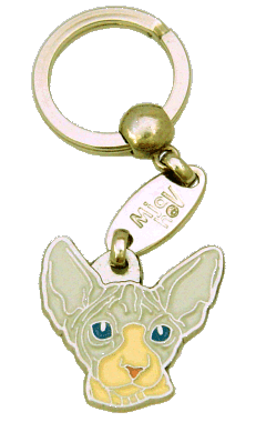 SPHYNX CAT CINNAMON CREAM - pet ID tag, dog ID tags, pet tags, personalized pet tags MjavHov - engraved pet tags online