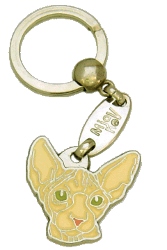 SPHYNX CAT CREAM <br> (keyring, without engraving)