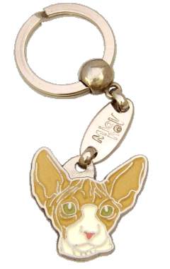 SPHYNX CAT RED AND WHITE - pet ID tag, dog ID tags, pet tags, personalized pet tags MjavHov - engraved pet tags online