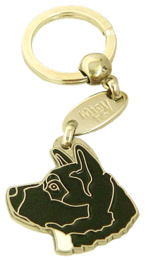 AKITA BLACK - pet ID tag, dog ID tags, pet tags, personalized pet tags MjavHov - engraved pet tags online