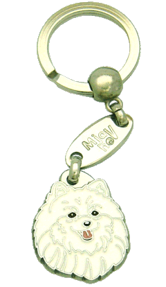 POMERANIAN WHITE - pet ID tag, dog ID tags, pet tags, personalized pet tags MjavHov - engraved pet tags online
