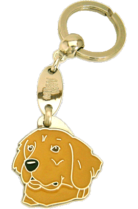 GOLDEN RETRIEVER DARK GOLD <br> (keyring, without engraving)
