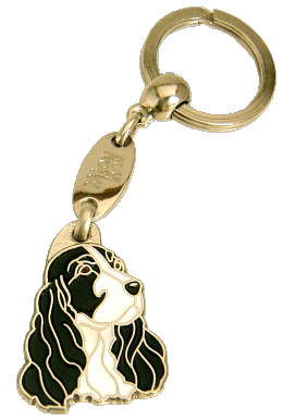COCKER BLACK & WHITE - pet ID tag, dog ID tags, pet tags, personalized pet tags MjavHov - engraved pet tags online