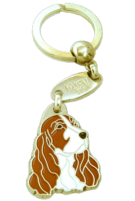 COCKER WHITE & RED - pet ID tag, dog ID tags, pet tags, personalized pet tags MjavHov - engraved pet tags online