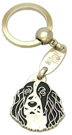 SPRINGER SPANIEL BLACK AND WHITE - pet ID tag, dog ID tags, pet tags, personalized pet tags MjavHov - engraved pet tags online
