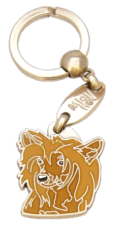 CHINESE CRESTED DOG BROWN - pet ID tag, dog ID tags, pet tags, personalized pet tags MjavHov - engraved pet tags online
