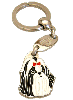 SHIH-TZU BLACK RED - pet ID tag, dog ID tags, pet tags, personalized pet tags MjavHov - engraved pet tags online