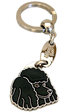 POODLE BLACK <br> (keyring, without engraving)