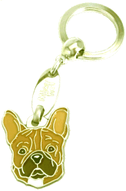 FRENCH BULLDOG BROWN - pet ID tag, dog ID tags, pet tags, personalized pet tags MjavHov - engraved pet tags online