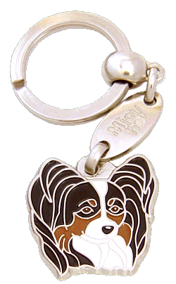 PAPILLON TRICOLOR <br> (keyring, without engraving)