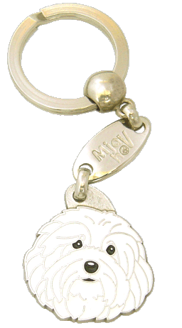 HAVANESE WHITE - pet ID tag, dog ID tags, pet tags, personalized pet tags MjavHov - engraved pet tags online
