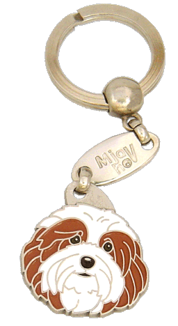 HAVANESE WHITE & RED - pet ID tag, dog ID tags, pet tags, personalized pet tags MjavHov - engraved pet tags online