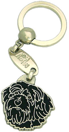 TIBETAN TERRIER BLACK - pet ID tag, dog ID tags, pet tags, personalized pet tags MjavHov - engraved pet tags online