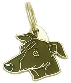 Galgo tigrado - pet ID tag, dog ID tags, pet tags, personalized pet tags MjavHov - engraved pet tags online