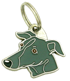 Galgo cinza - pet ID tag, dog ID tags, pet tags, personalized pet tags MjavHov - engraved pet tags online