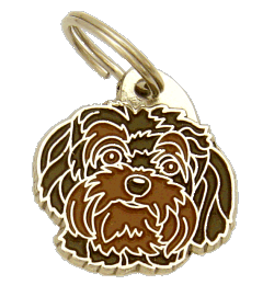 Bolonka marrom - pet ID tag, dog ID tags, pet tags, personalized pet tags MjavHov - engraved pet tags online