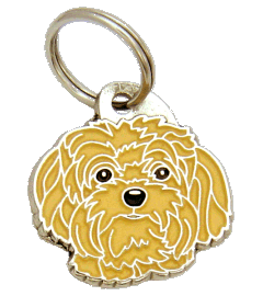 Bolonka creme - pet ID tag, dog ID tags, pet tags, personalized pet tags MjavHov - engraved pet tags online