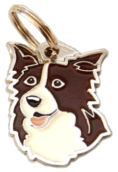 Border collie marrom - pet ID tag, dog ID tags, pet tags, personalized pet tags MjavHov - engraved pet tags online