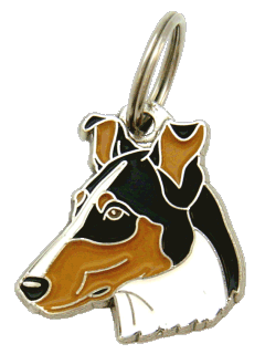 Collie pêlo curto tricolor - pet ID tag, dog ID tags, pet tags, personalized pet tags MjavHov - engraved pet tags online