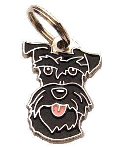 Schnauzer preto - pet ID tag, dog ID tags, pet tags, personalized pet tags MjavHov - engraved pet tags online