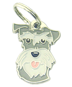 Schnauzer sal pimenta - pet ID tag, dog ID tags, pet tags, personalized pet tags MjavHov - engraved pet tags online
