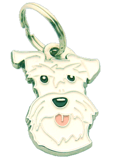 Schnauzer branco - pet ID tag, dog ID tags, pet tags, personalized pet tags MjavHov - engraved pet tags online