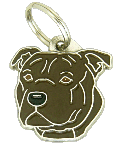 Staffordshire bull terier tigrado - pet ID tag, dog ID tags, pet tags, personalized pet tags MjavHov - engraved pet tags online