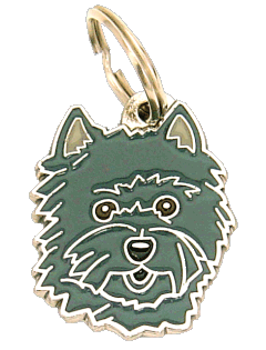 Cairn terrier cinza escuro - pet ID tag, dog ID tags, pet tags, personalized pet tags MjavHov - engraved pet tags online