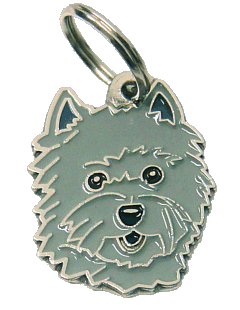 Cairn terrier cinza - pet ID tag, dog ID tags, pet tags, personalized pet tags MjavHov - engraved pet tags online