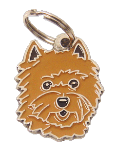 Cairn terrier vermelho - pet ID tag, dog ID tags, pet tags, personalized pet tags MjavHov - engraved pet tags online