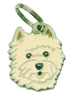 Cairn terrier creme - pet ID tag, dog ID tags, pet tags, personalized pet tags MjavHov - engraved pet tags online