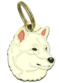 Shiba inu branco - pet ID tag, dog ID tags, pet tags, personalized pet tags MjavHov - engraved pet tags online