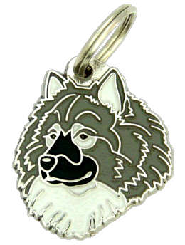 Eurasier cinza - pet ID tag, dog ID tags, pet tags, personalized pet tags MjavHov - engraved pet tags online