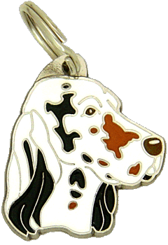 Setter inglês tricolor - pet ID tag, dog ID tags, pet tags, personalized pet tags MjavHov - engraved pet tags online