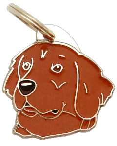 Golden retriever vermelho - pet ID tag, dog ID tags, pet tags, personalized pet tags MjavHov - engraved pet tags online