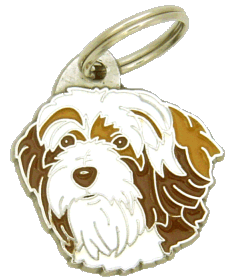 Terrier tibetano branco e marrom - pet ID tag, dog ID tags, pet tags, personalized pet tags MjavHov - engraved pet tags online