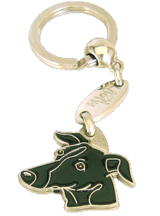 Galgo preto - pet ID tag, dog ID tags, pet tags, personalized pet tags MjavHov - engraved pet tags online