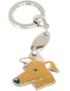 Galgo marrom - pet ID tag, dog ID tags, pet tags, personalized pet tags MjavHov - engraved pet tags online