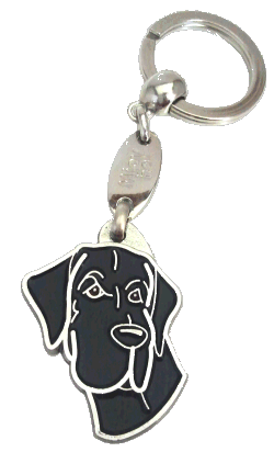 Dogue Alemão preto - pet ID tag, dog ID tags, pet tags, personalized pet tags MjavHov - engraved pet tags online