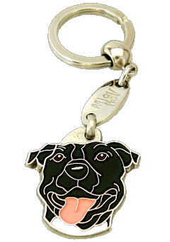 American staffordshire terrier preto - pet ID tag, dog ID tags, pet tags, personalized pet tags MjavHov - engraved pet tags online