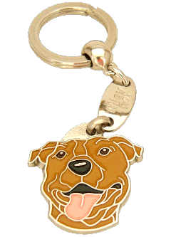 American staffordshire terrier marrom - pet ID tag, dog ID tags, pet tags, personalized pet tags MjavHov - engraved pet tags online